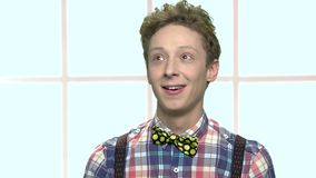 典雅的作白日梦的十几岁的男孩 股票录像