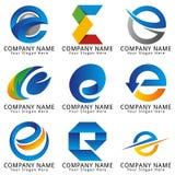 典雅的信件E概念商标 免版税库存图片