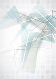 典雅的几何蓝色背景。 免版税库存照片