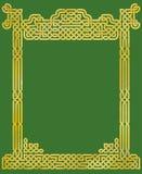 典雅的凯尔特结框架 库存照片