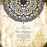典雅的印地安装饰背景 免版税库存照片