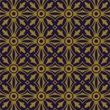 典雅的古色古香的金棕色和蓝色背景368_round十字架曲线万花筒 库存图片
