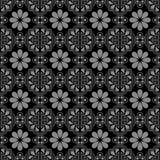 典雅的古色古香的银和黑背景376_oriental三角geomtry花 图库摄影