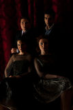 典雅的四个晚上人员 免版税库存照片