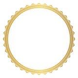 典雅的圆的金框架 向量例证