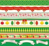 典雅的圣诞节丝带 图库摄影