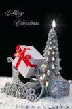 典雅的圣诞节背景 免版税库存照片