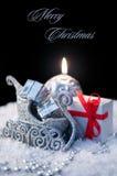 典雅的圣诞节背景 库存图片