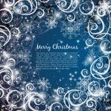 典雅的圣诞节蓝色背景 库存照片