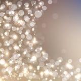 典雅的圣诞节闪耀的背景 库存照片