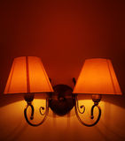 典雅的壁灯 库存照片