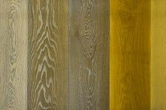 典雅的多色棕色木纹理& x28; 对background& x29; 库存照片