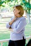 典雅的夫人前辈 免版税库存照片
