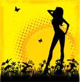 典雅的女孩夏天 免版税图库摄影