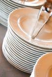 典雅的婚礼圆的饭桌 库存照片