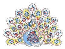 典雅的孔雀 免版税库存照片