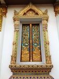 典雅的寺庙Windows 免版税图库摄影