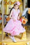典雅的小女孩 免版税库存照片