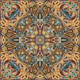 典雅的方形的五颜六色的抽象样式 免版税图库摄影