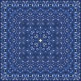 典雅的方形的浅兰的抽象样式 库存照片