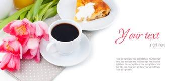 典雅的早餐,服务,准备好的模板 免版税库存照片