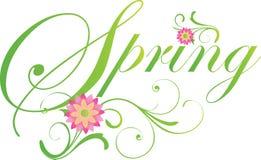 典雅的春天横幅以绿色 免版税库存图片