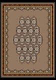 典雅的有一个几何样式的设计米黄地毯 免版税库存照片