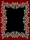 典雅的框架漩涡葡萄酒 向量例证