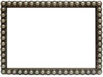 典雅的框架珍珠照片银 库存图片