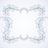 典雅的框架用蓝莓。 免版税库存图片