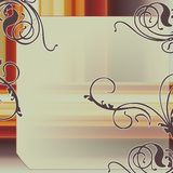 典雅的框架葡萄酒 图库摄影