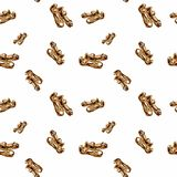 典雅的水彩妇女` s鞋子 无缝的模式 免版税库存图片