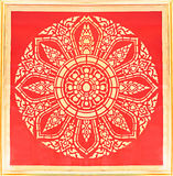 典雅的泰国艺术纹理 库存图片