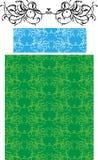 典雅的淡绿色的装饰品 库存图片