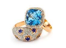 典雅的珠宝环形 库存照片