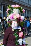 典雅的用花装饰的面具,威尼斯,意大利,欧洲 库存图片