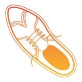 典雅的男性唯一鞋子 库存例证