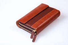 典雅的皮革钱包 免版税库存照片