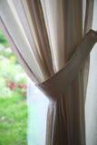典雅的窗帘 免版税库存照片