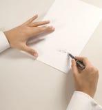 典雅的签名 免版税库存照片