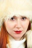 典雅的红头发人纵向 免版税库存图片