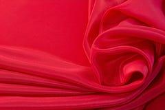典雅的红色丝绸背景 库存照片