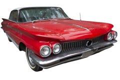 典雅的红色轿车汽车 免版税库存图片