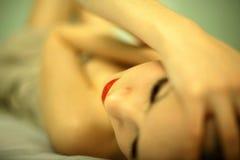 典雅的纵向妇女年轻人 图库摄影