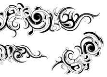 典雅的纹身花刺 库存照片
