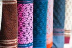 典雅的织品丝绸 免版税库存图片