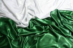 典雅的绿色和空白丝绸 库存照片