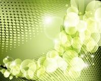 典雅的绿色背景海报 免版税库存图片
