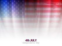 典雅的美国国旗题材背景设计 免版税库存照片