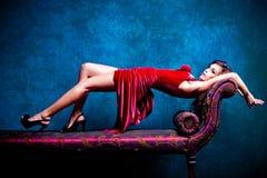 典雅的肉欲的妇女 免版税图库摄影